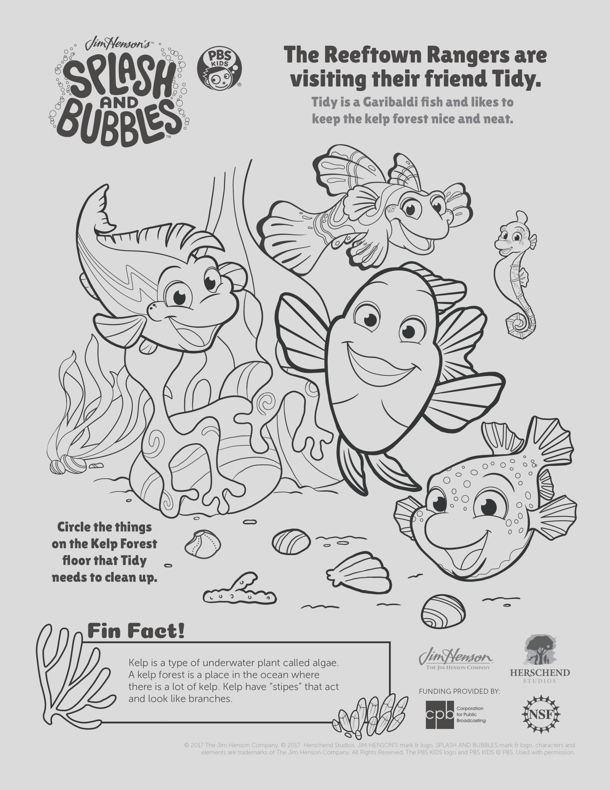 pbs kids coloring pages