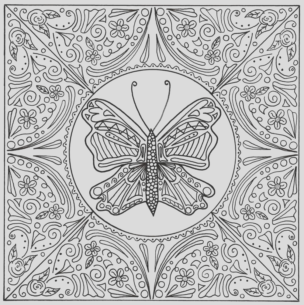 Butterfly Lace Mandala Adult Coloring Page