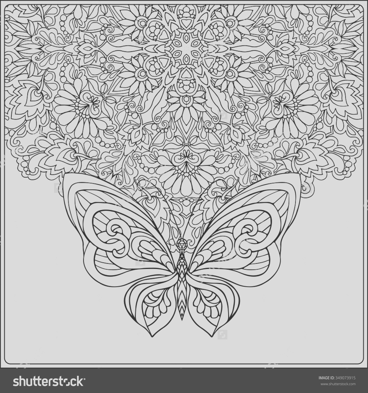 butterfly mandala coloring pages printable