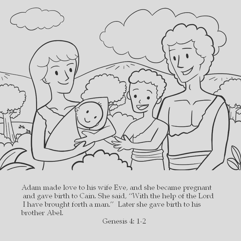 cain abel coloring pages