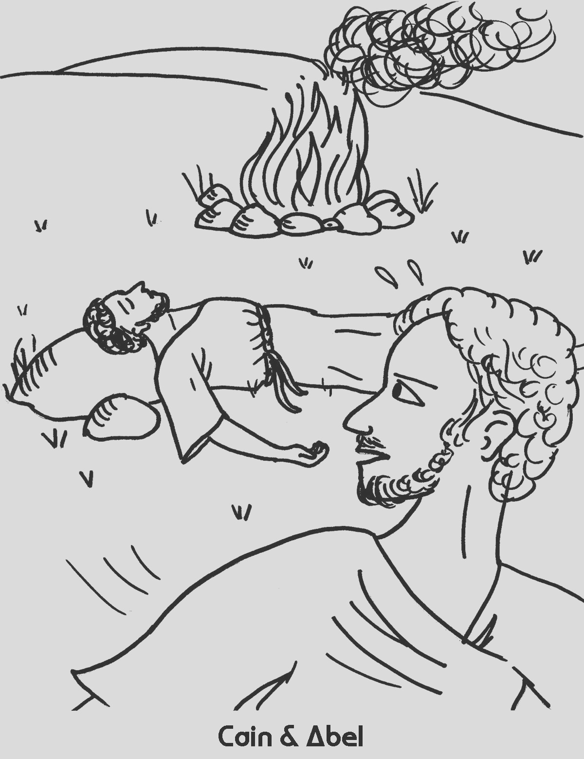 cain and abel coloring sheet