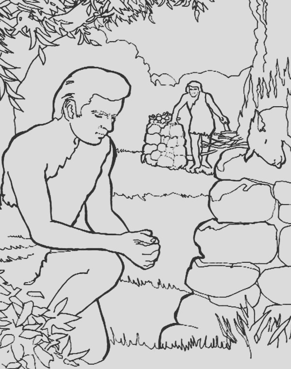 how to draw abel and cain coloring page