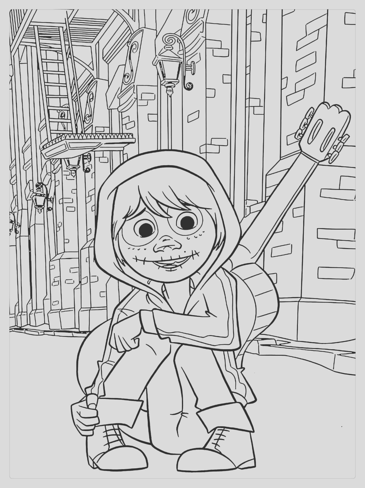 coco coloring pages miguel lineart free