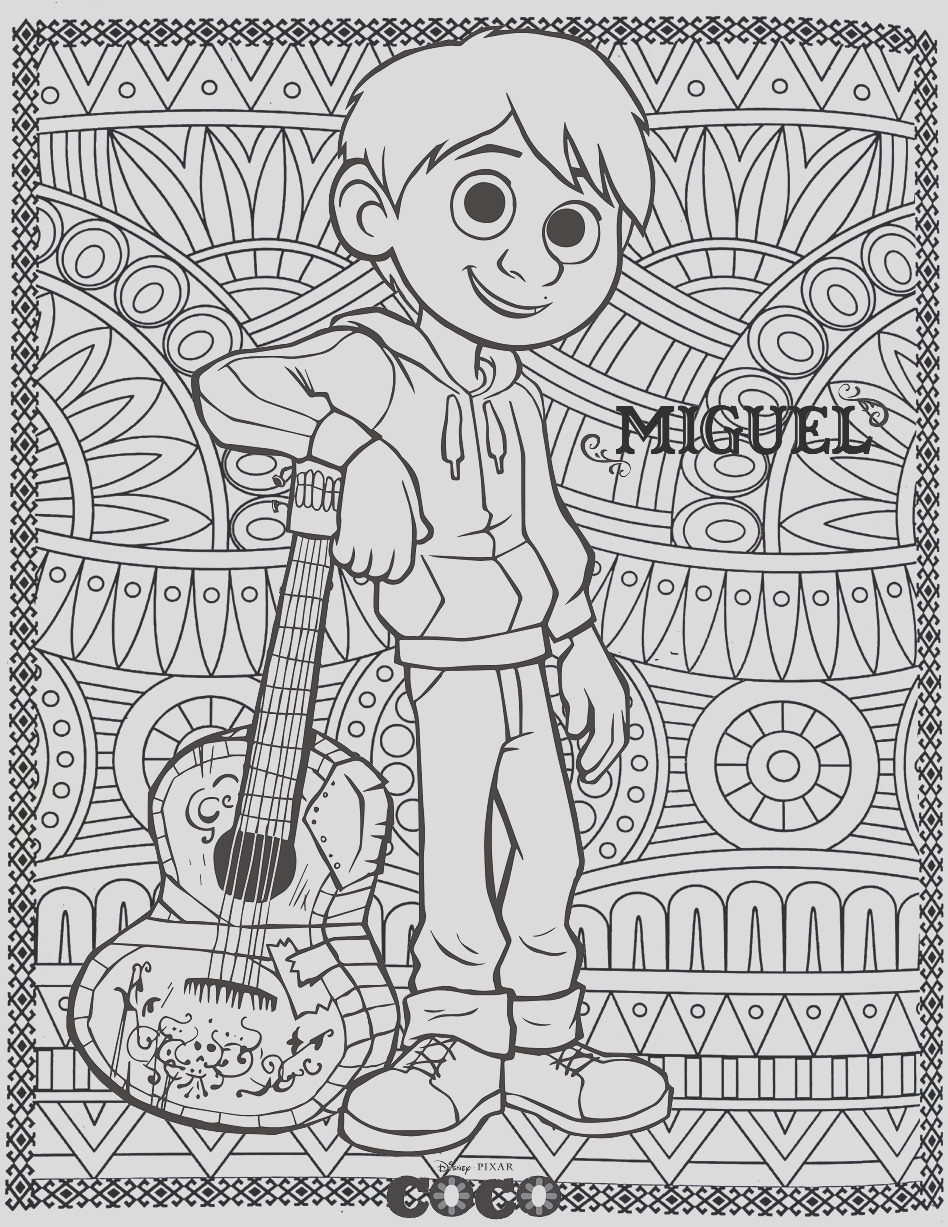 image=coco Coloring for kids coco 1
