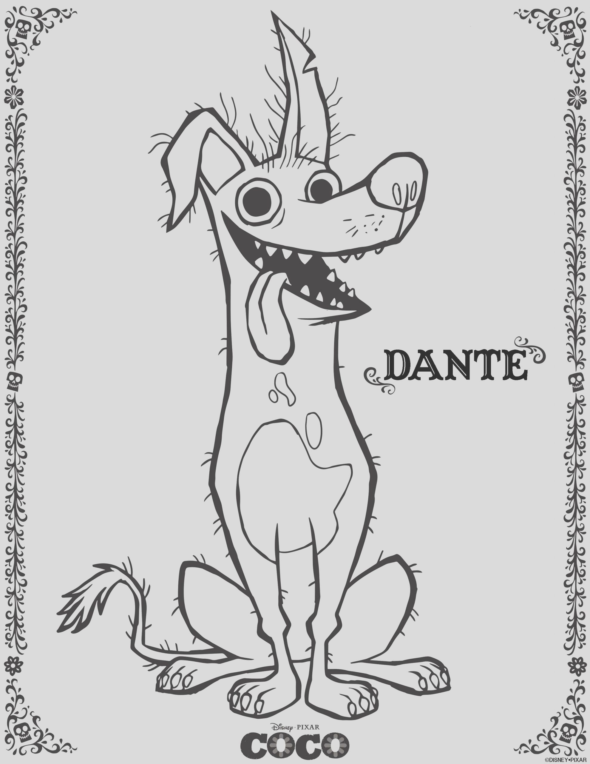 disney pixars coco coloring pages