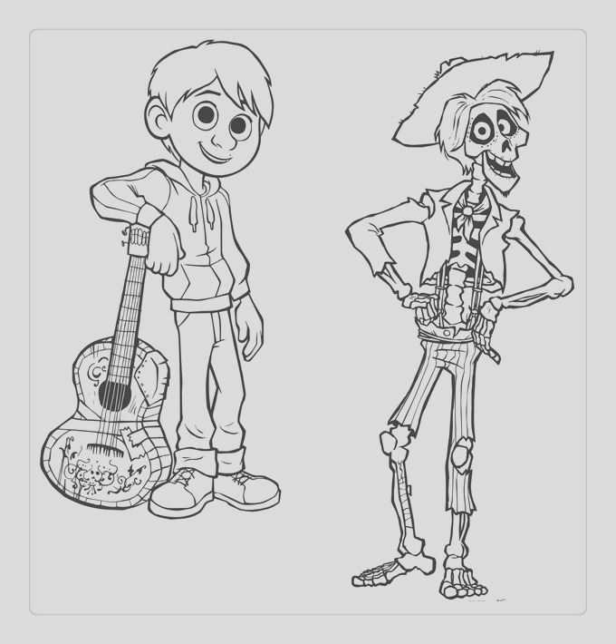 coco coloring pages characters