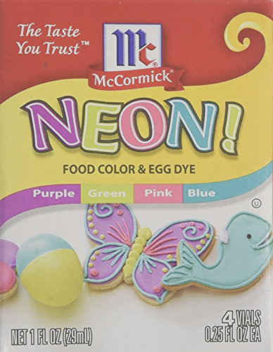 neon purple green pink blue 4 pack food color
