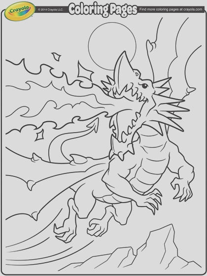 fire breathing dragon coloring page