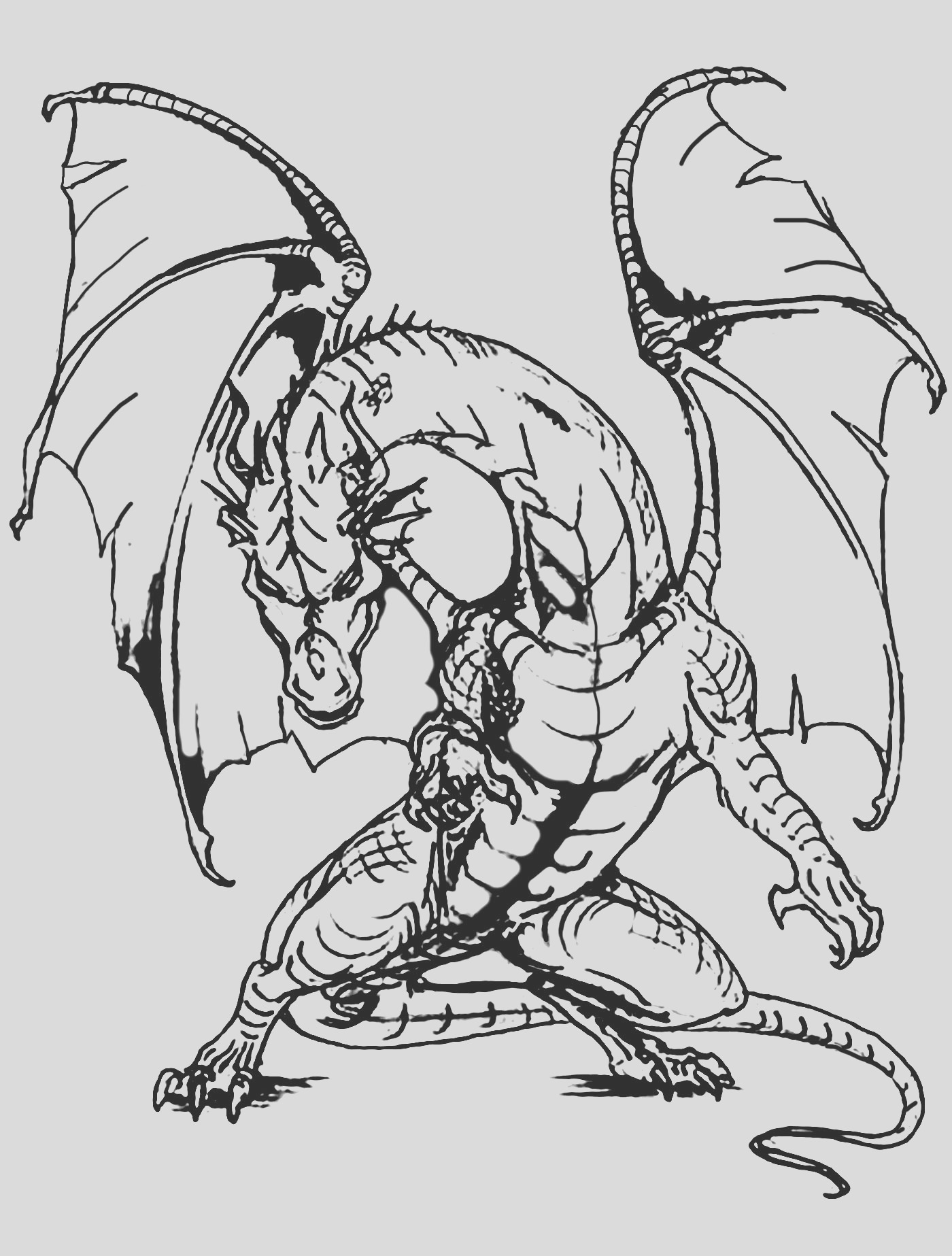 image=dragons coloring page giant dragon 1