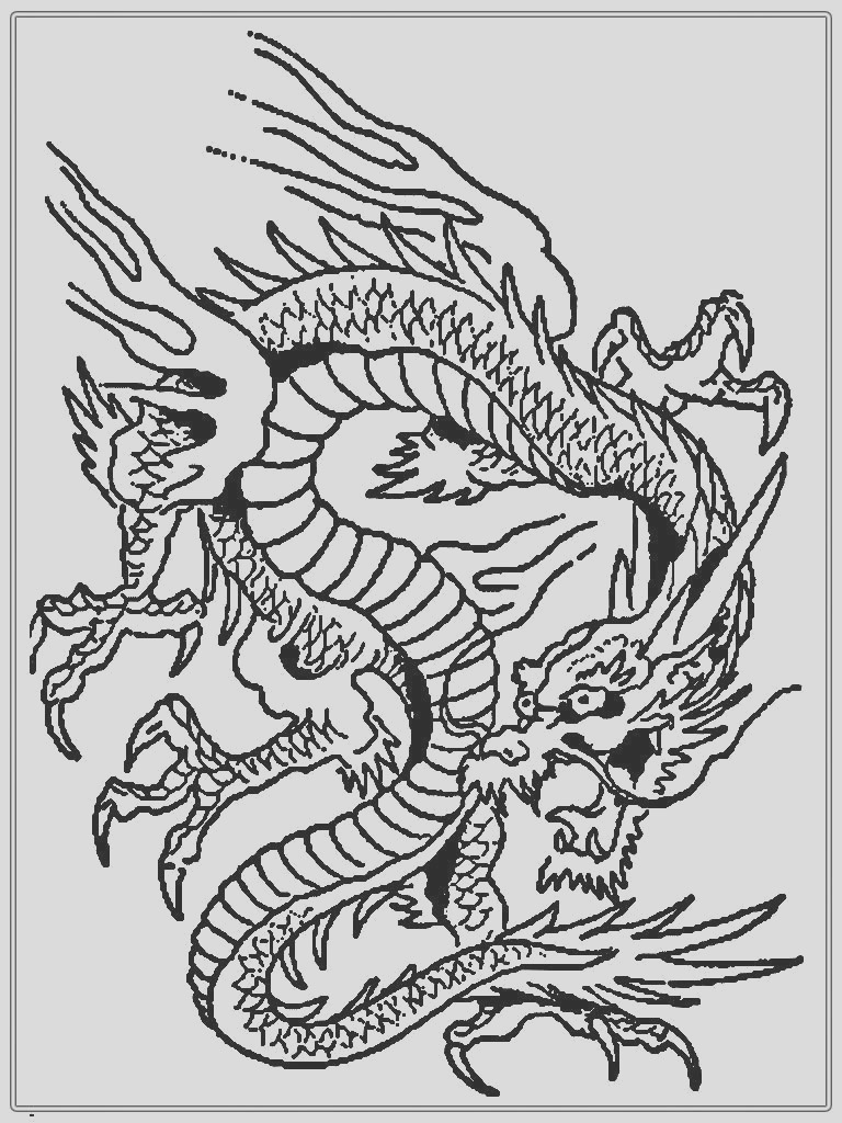dragon coloring pages printable online free