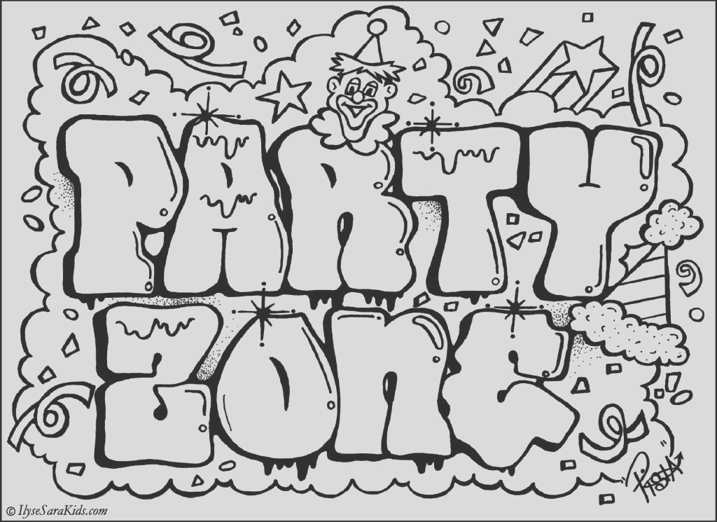 graffiti fonts sketches coloring pages