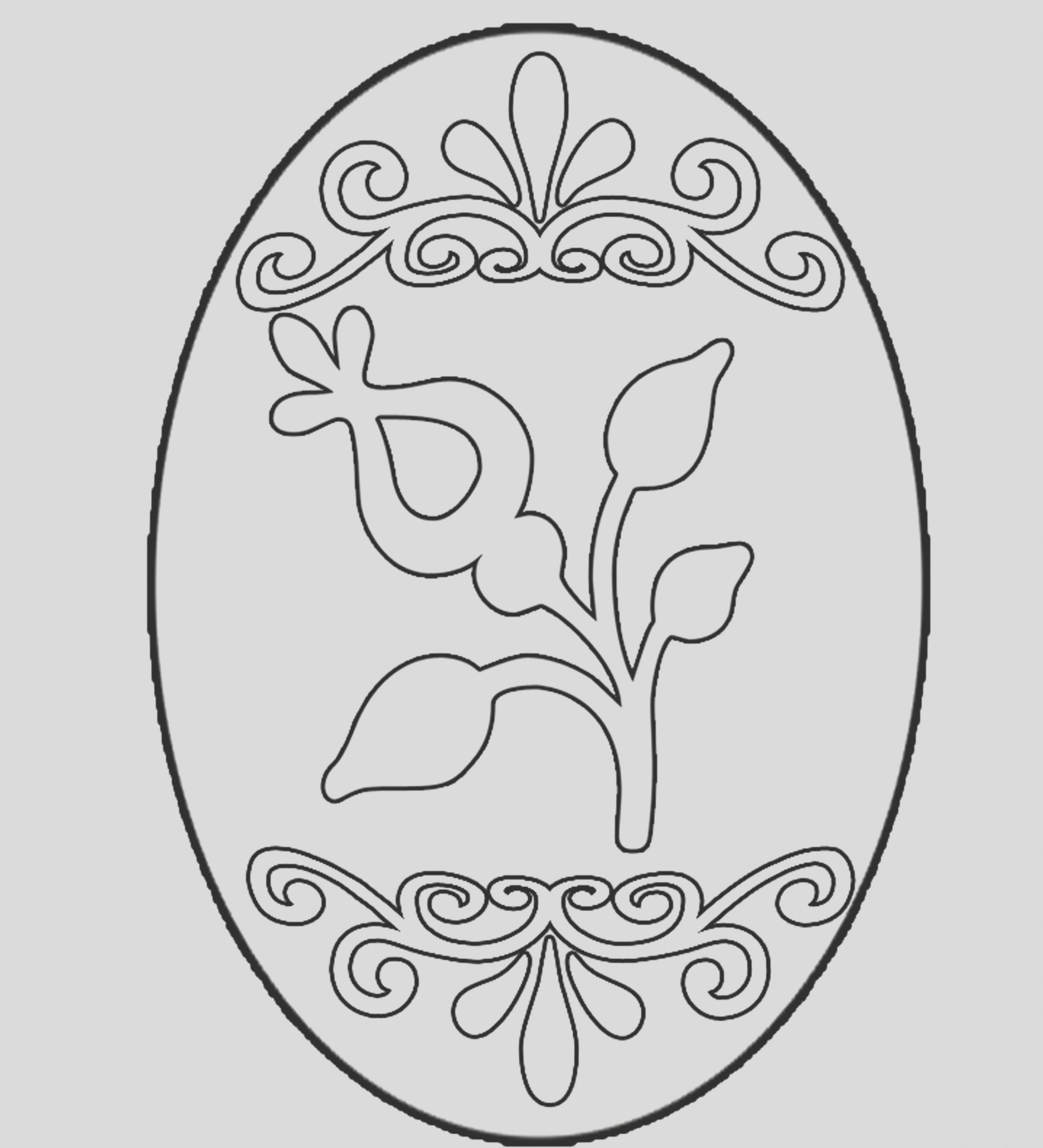 easter egg coloring pictures