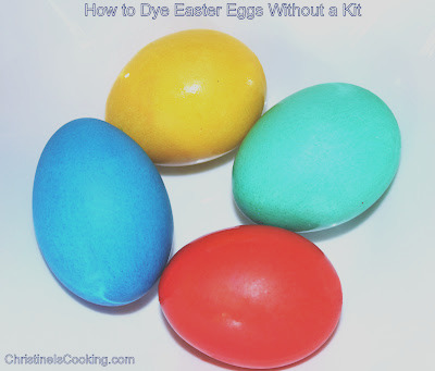 how to dye easter eggs without kit food
