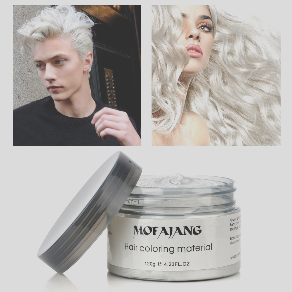 color hair dye styling wax