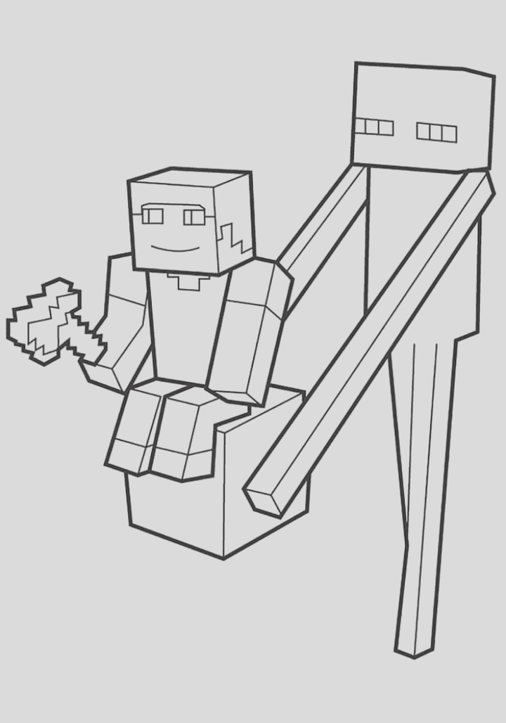 minecraft coloring pages print them for