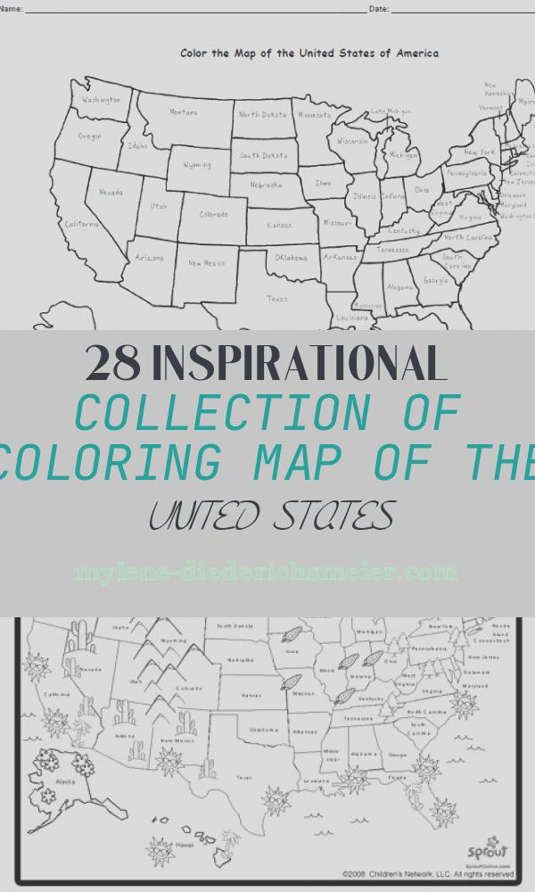 Coloring Map Of the United States Unique A Free Printable Map Of the United States to Color and