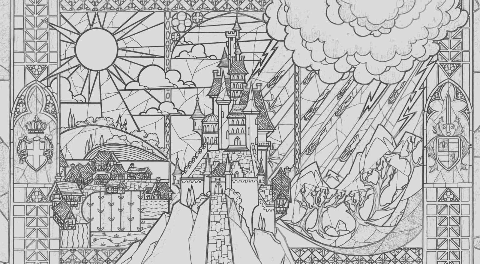 beauty beast adult coloring pages