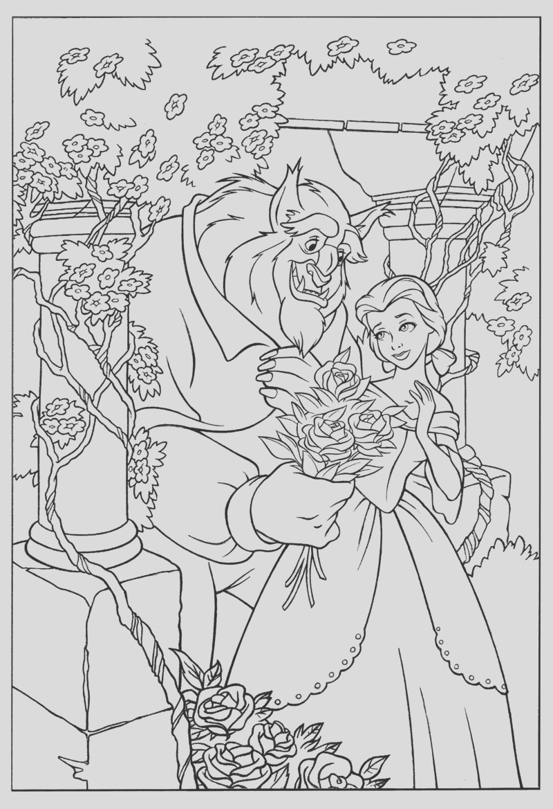 coloring pages for beauty and the beast