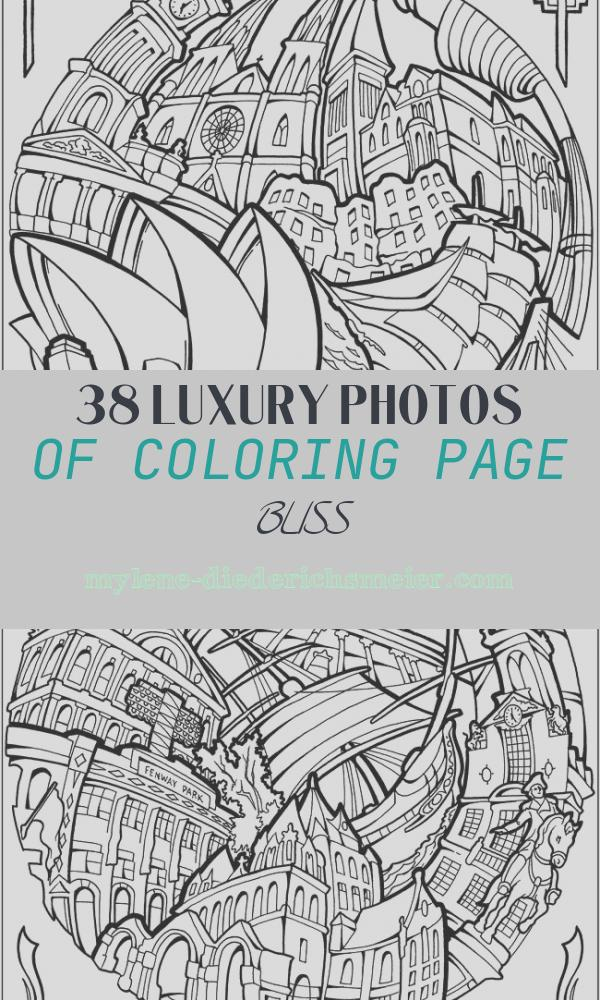 Coloring Page Bliss Inspirational Bliss Cities Coloring Book Your Passport to Calm by
