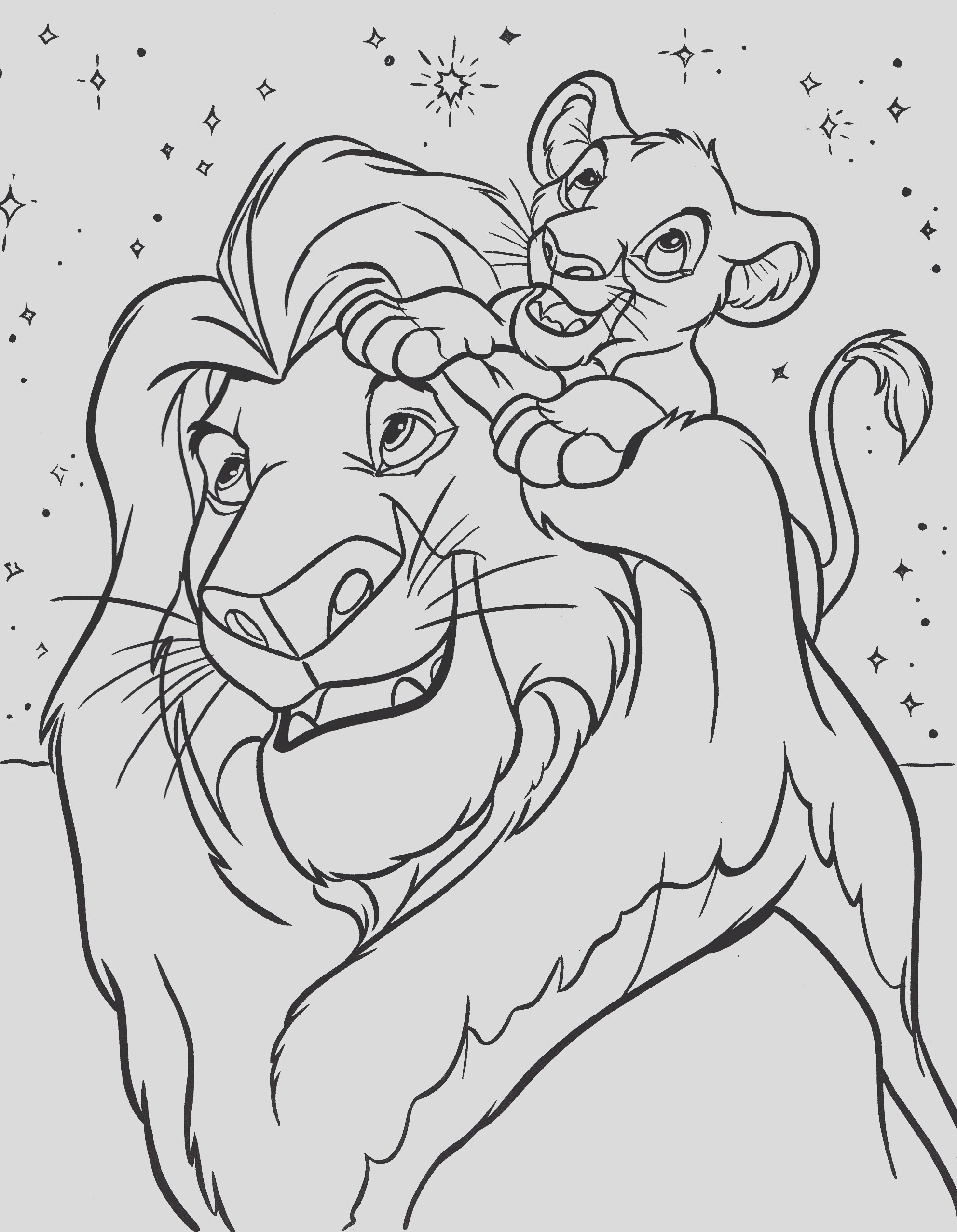 disney coloring pages lion king 1049