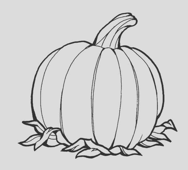awesome pumpkins fruit coloring page