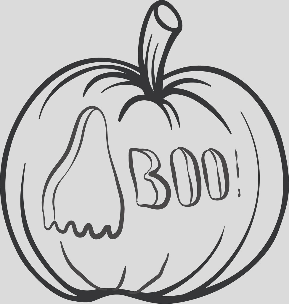 pumpkin ghost carving coloring page a4285