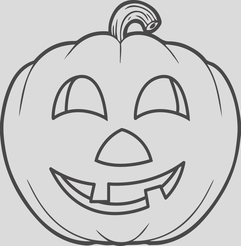 fun looking carved pumpkin coloring page a4311