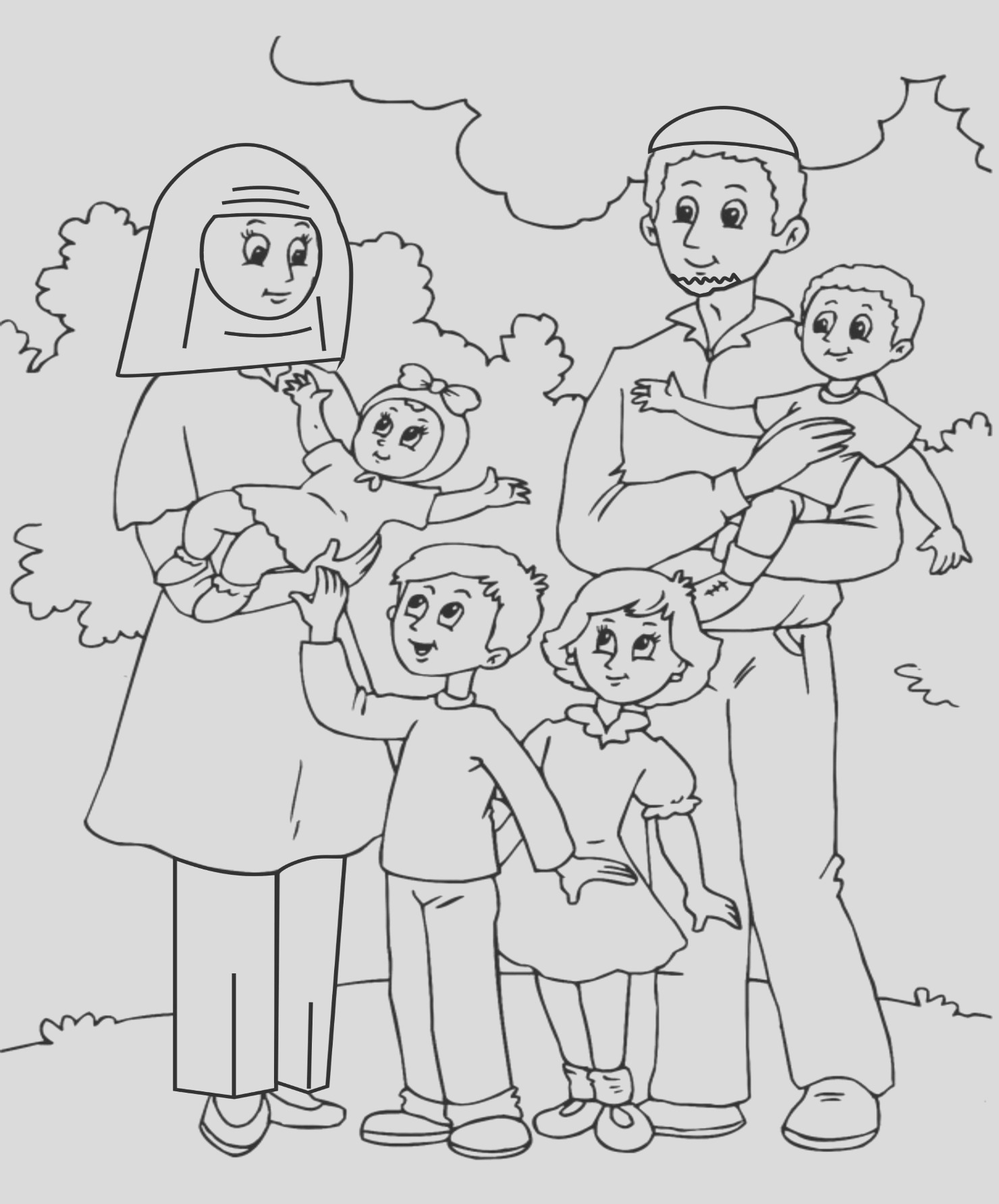 family coloring pages 46
