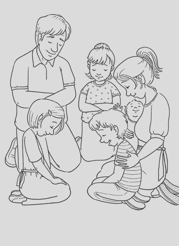 family value lords prayer coloring page