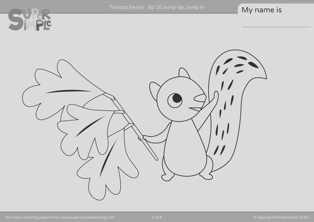 treetop family coloring pages episode 10