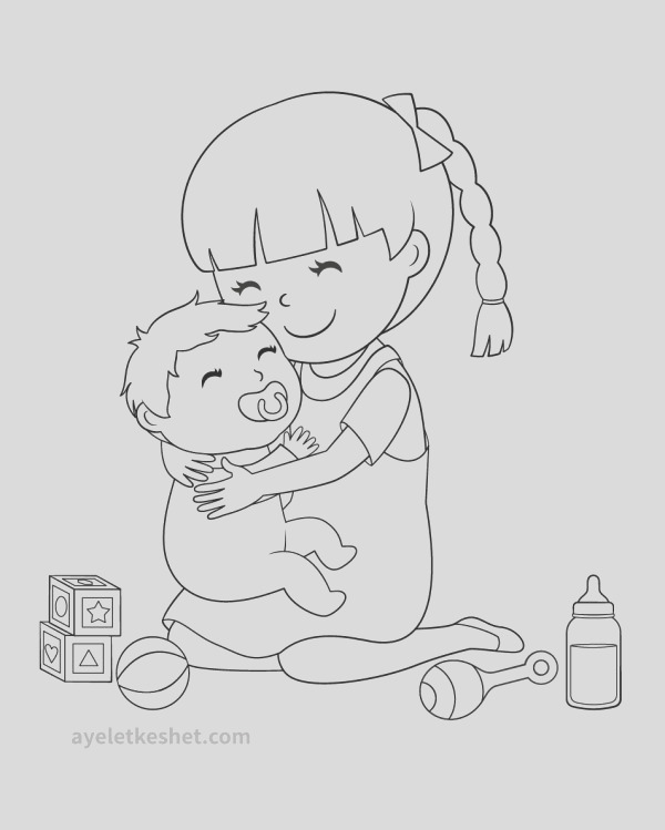 coloring pages about family