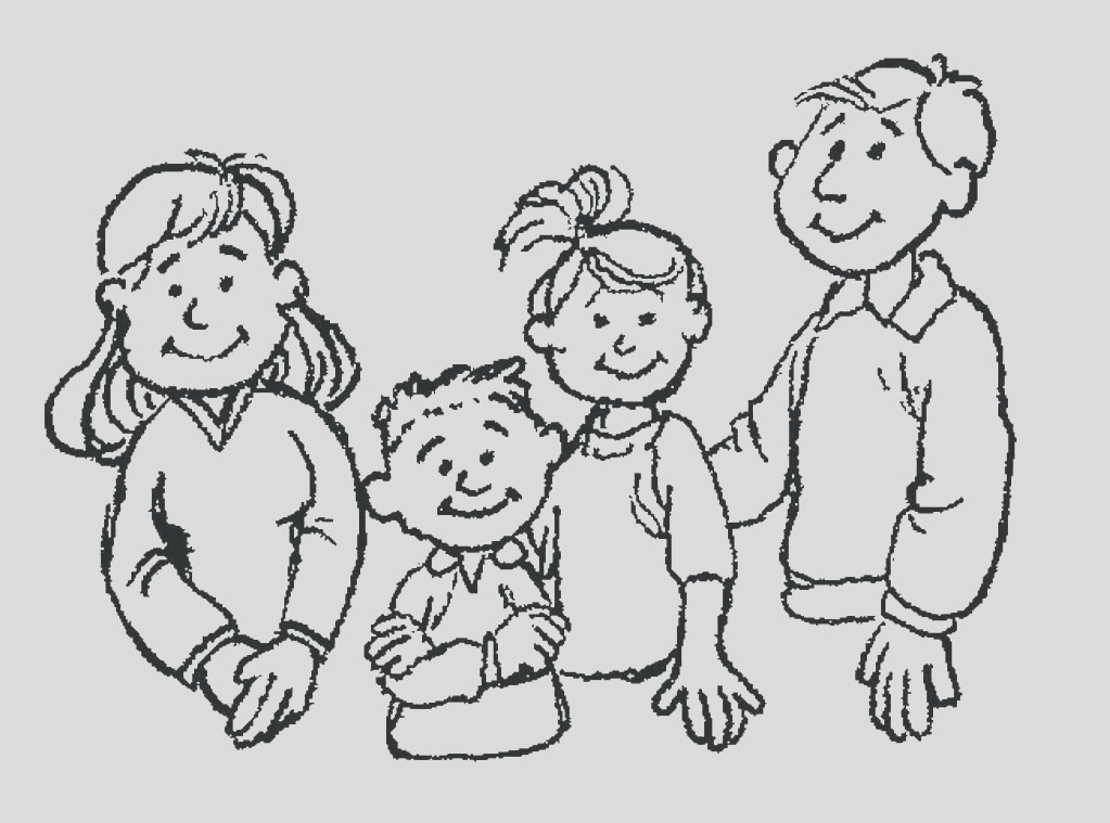 happy family coloring page
