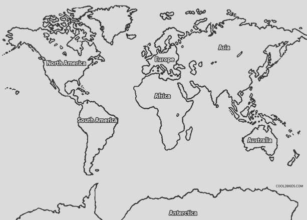 continents drawing