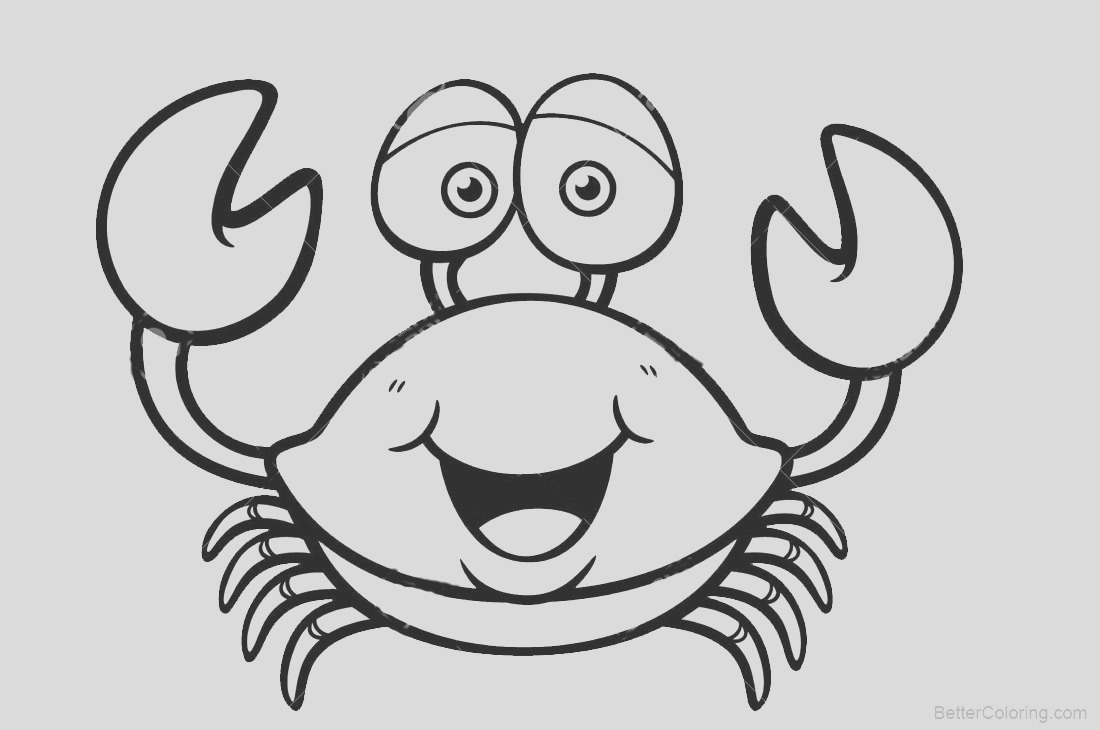 crab coloring pages lineart
