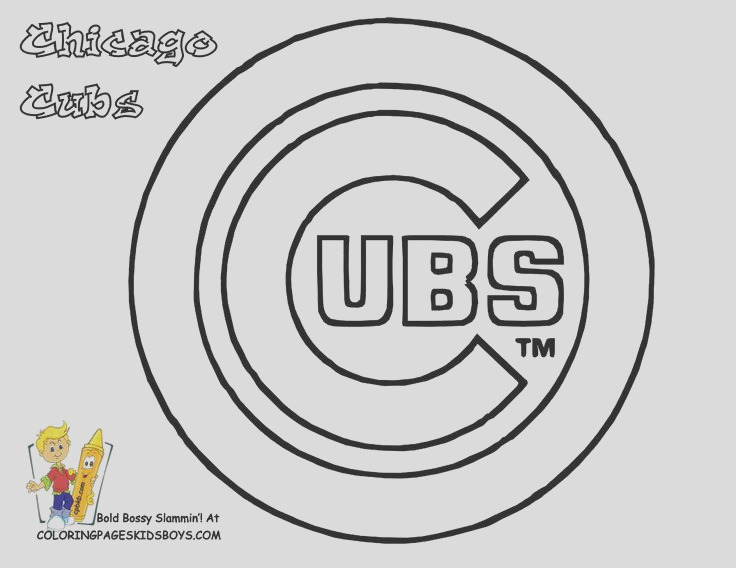 chicago cubs coloring pages