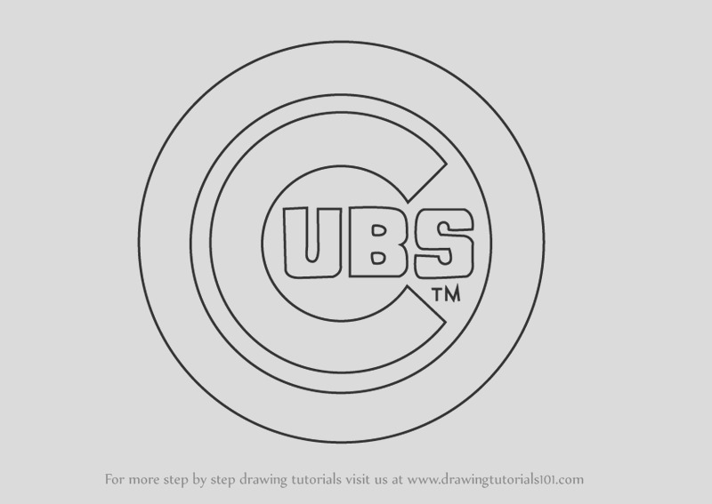 how to draw chicago cubs logo