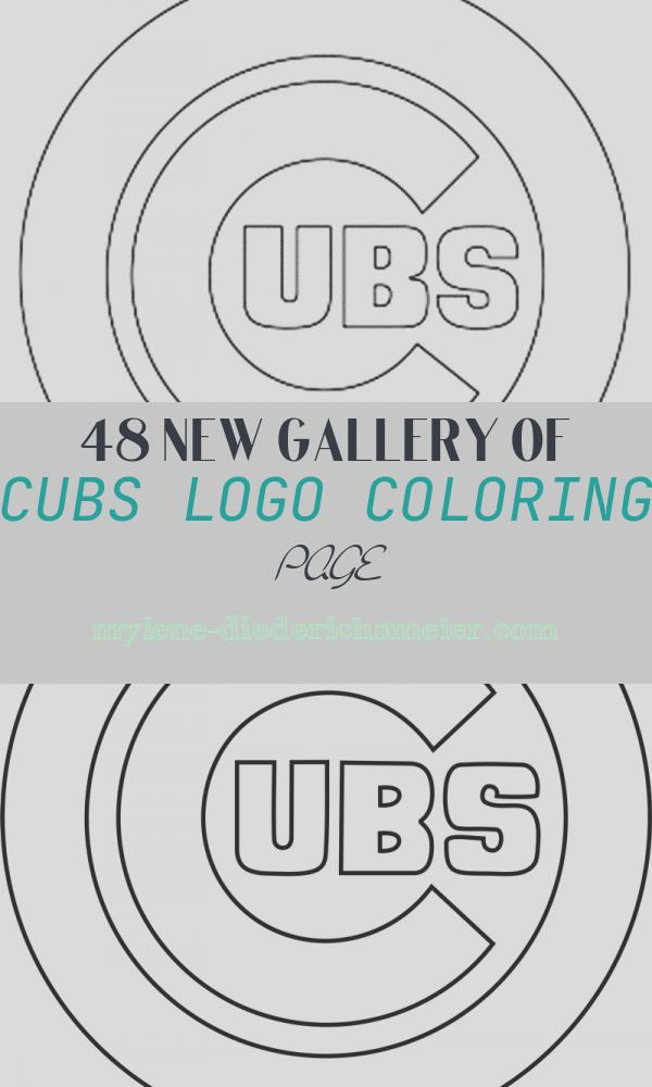 Cubs Logo Coloring Page Lovely Chicago Cubs Logo Coloring Home