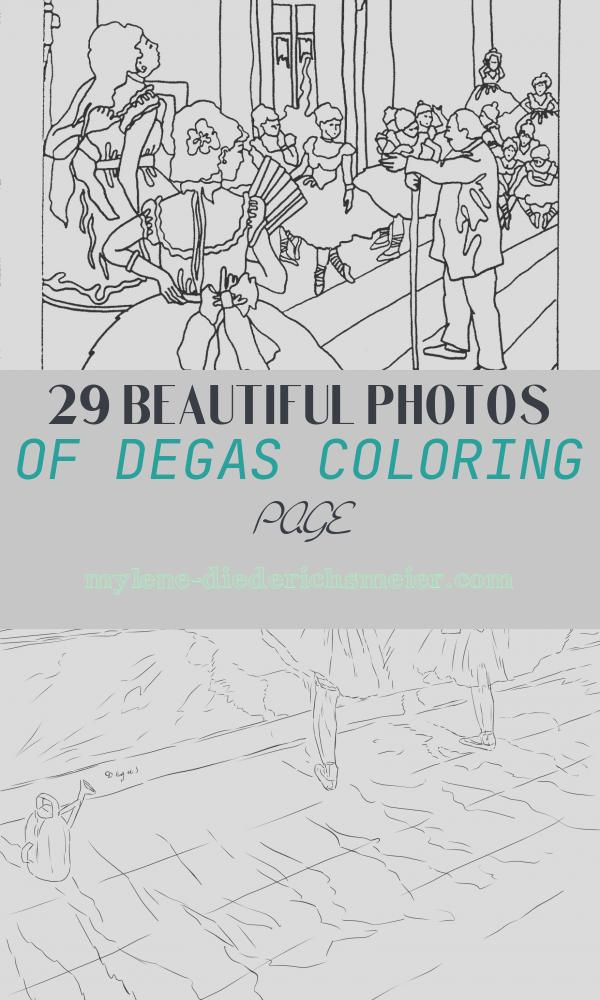 Degas Coloring Page Awesome Art Masterpiece Degas