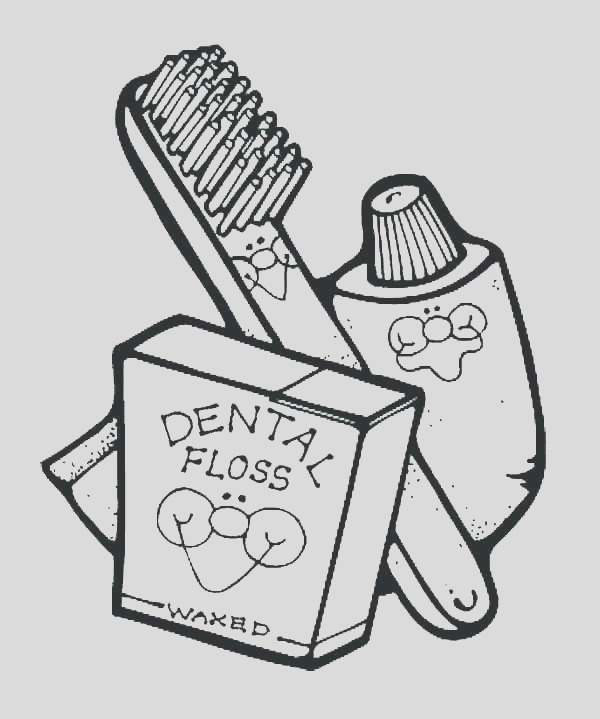 dental coloring pages for preschool