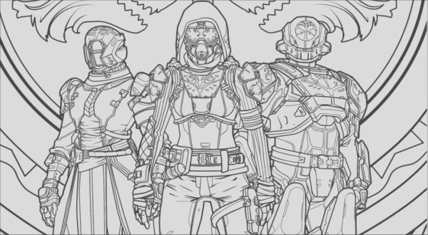 a destiny 2 coloring book is ing so whip out the crayons