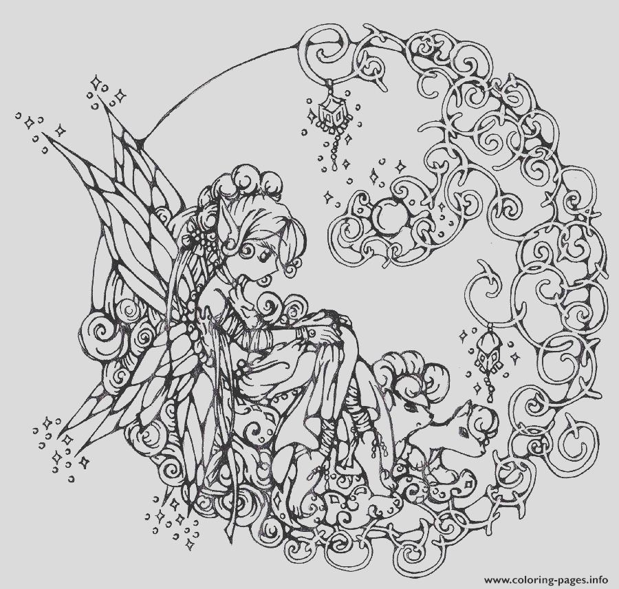 difficult flower fairie printable coloring pages book