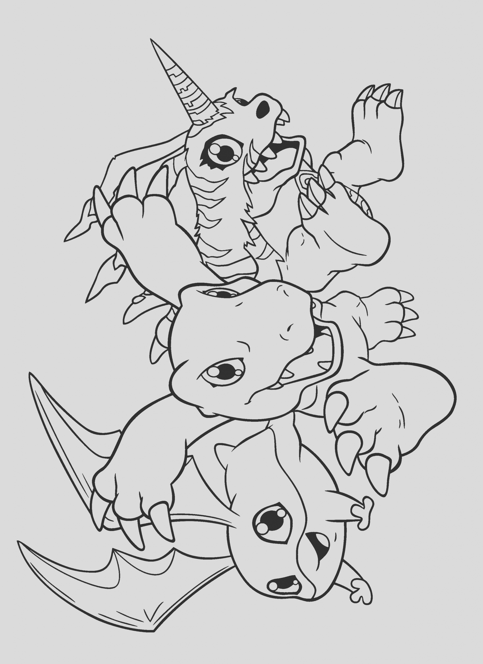 digimon coloring pages 210