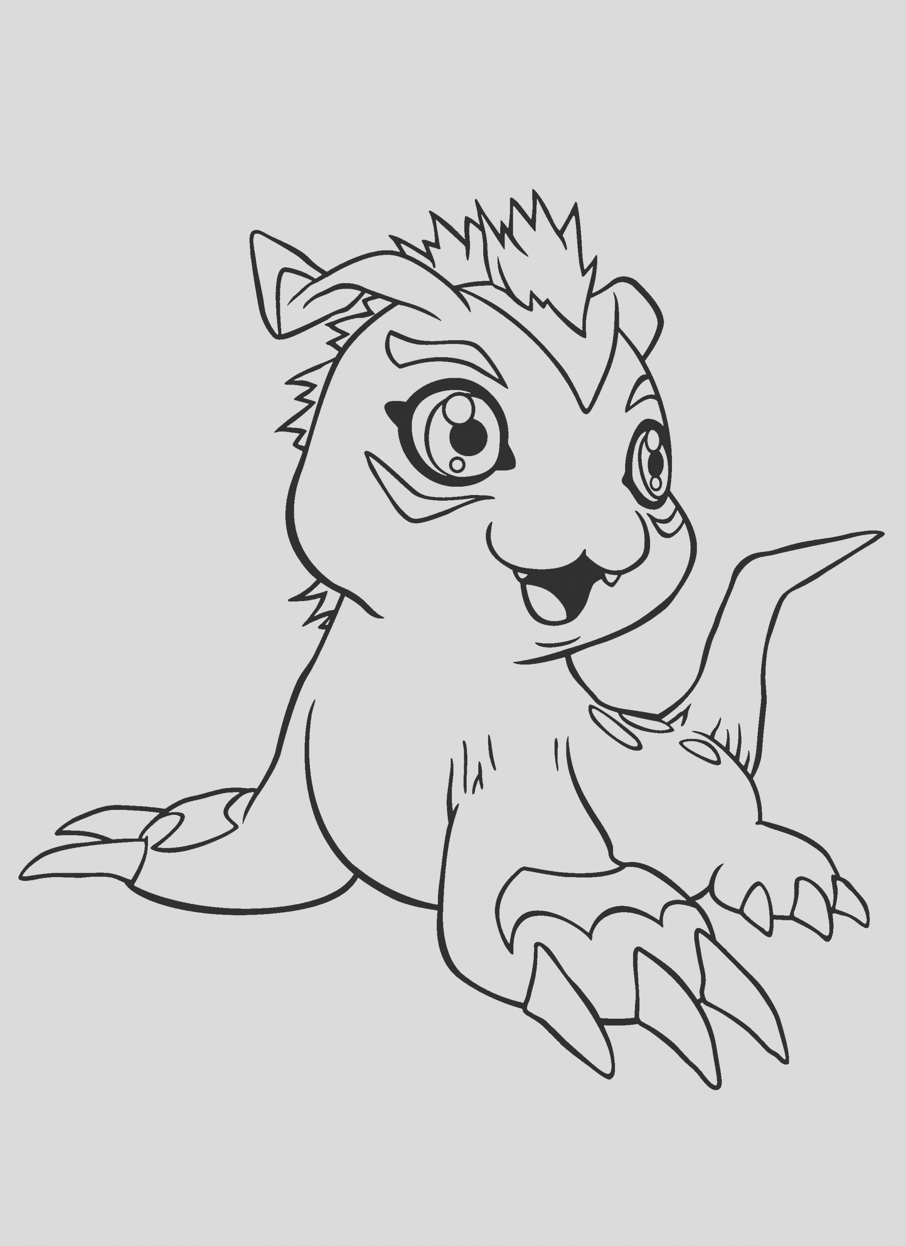 digimon coloring pages 179