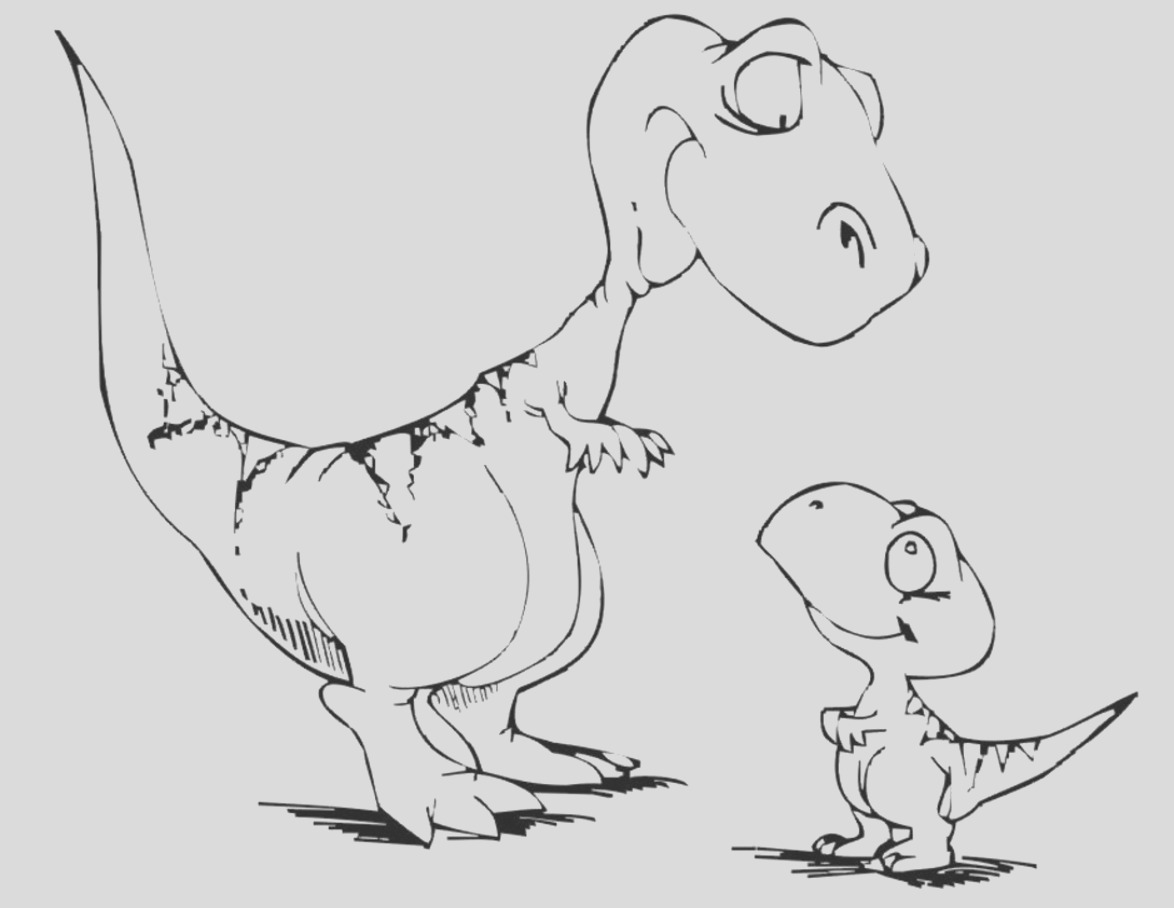 dinosaur coloring pages 2