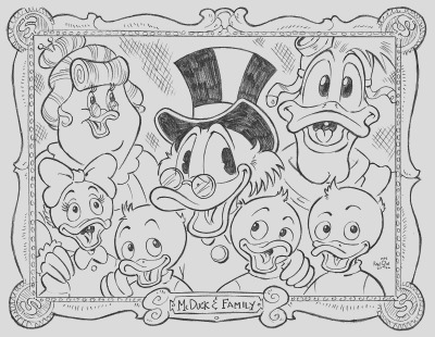 ducktales coloring pages