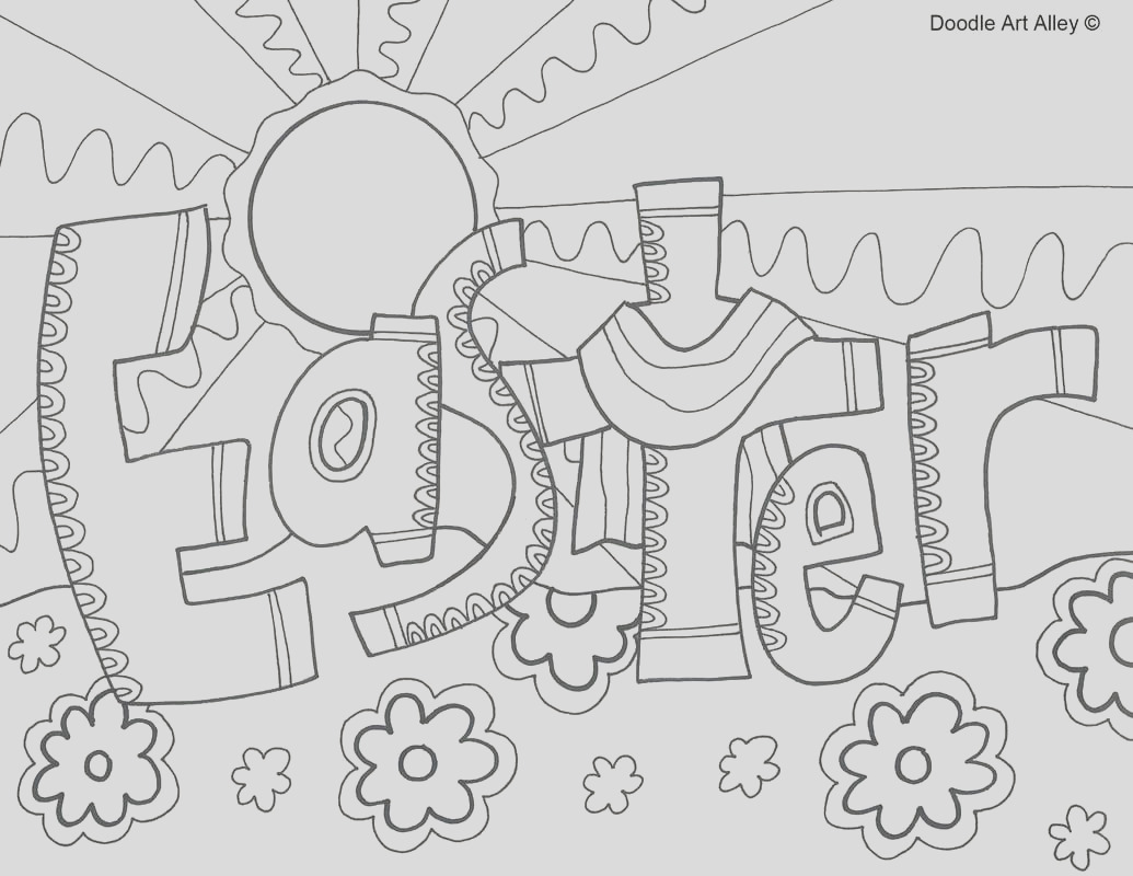 sunday school coloring pages easter