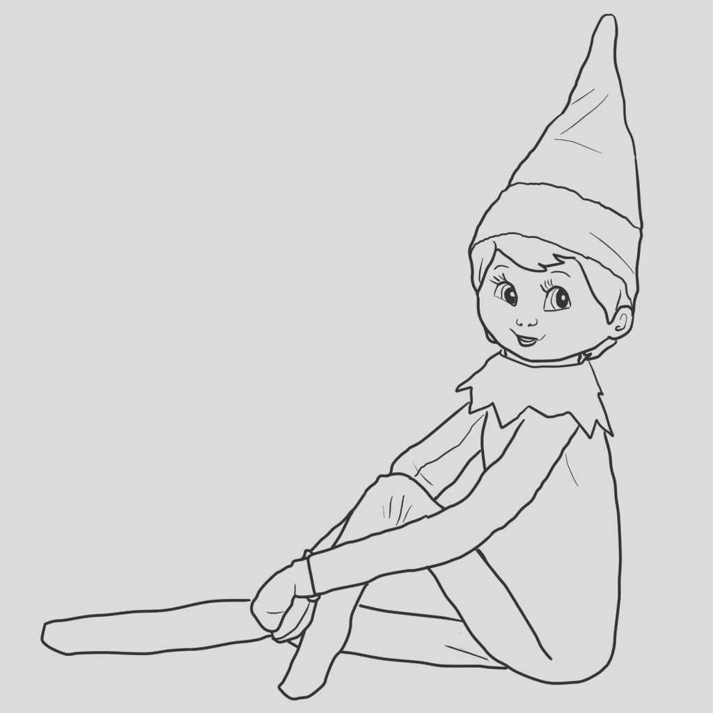 girl reindeer coloring pages