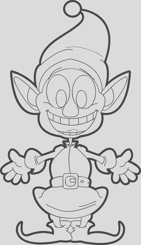 face of an elf coloring page a4159