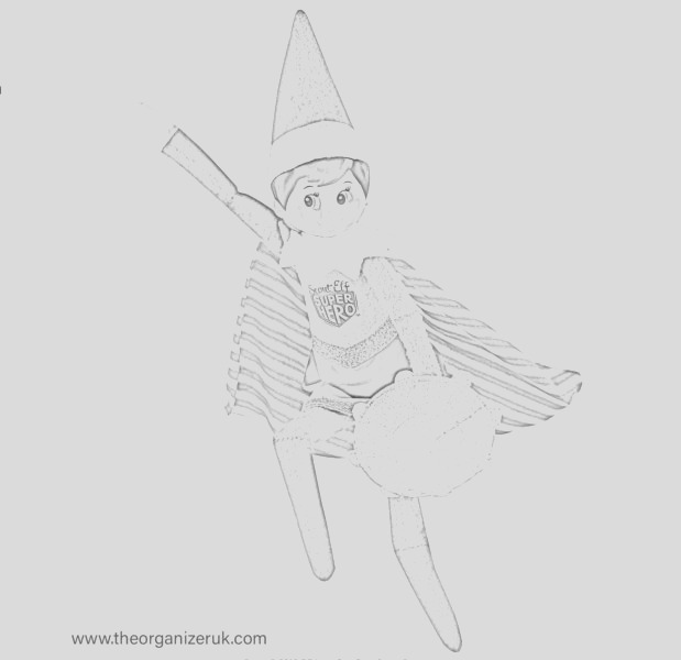 10 best free elf colouring pages