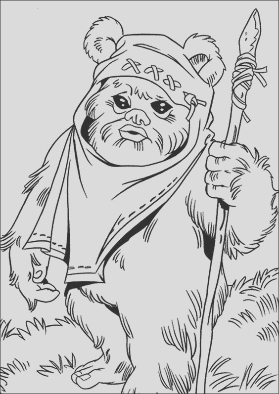 ewok coloring pages